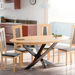 Table design extensible ovale ou ronde fabriquée en France