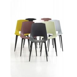 Chaise empilable structure aluminium Eva