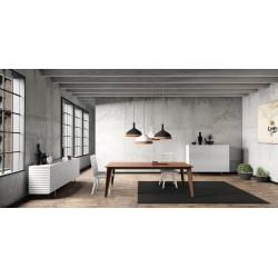 Table de repas design bois et métal