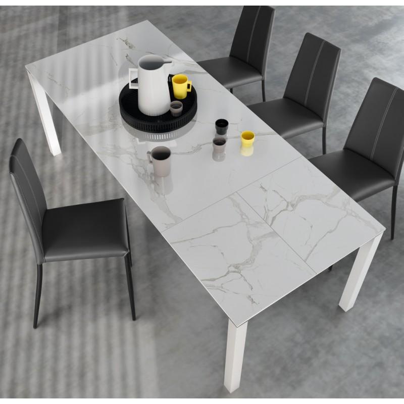 Table de cuisine Natali plateau en céramique