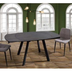 Table design avec rallonge forme tonneau Xerox - Couleur ardoise