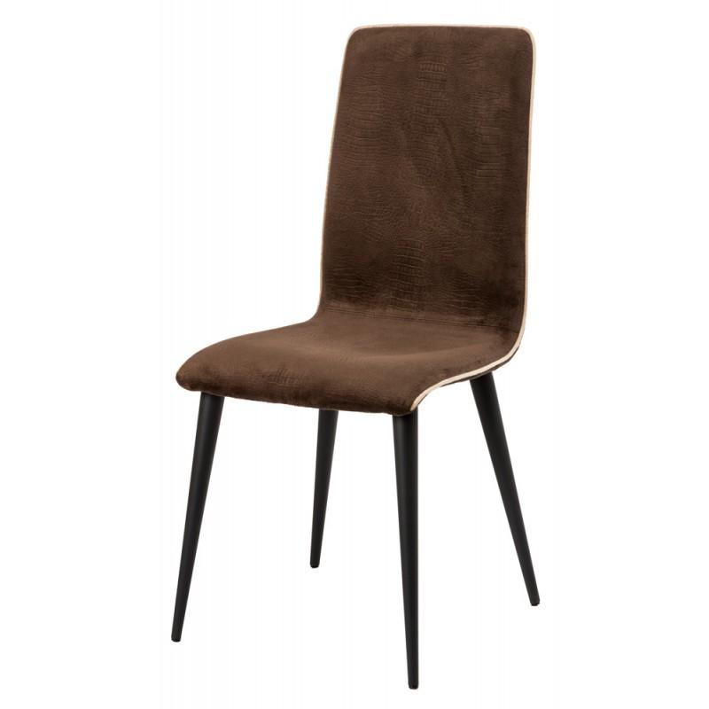 Chaise de salon élégante pieds métal