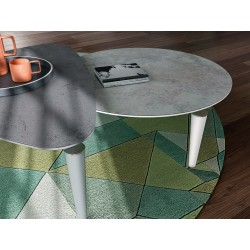 Table basse design de formes triangulaire, ronde, ovale, rectangulaire