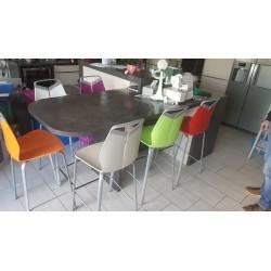Chaises de cuisine multicolores