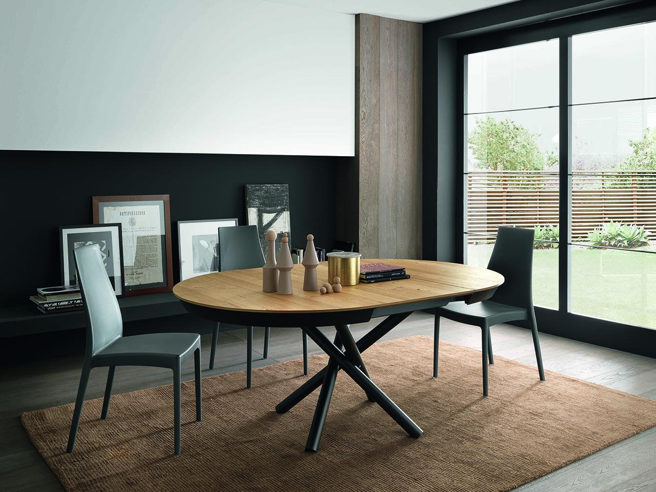 Table ronde ou ovale en bois design