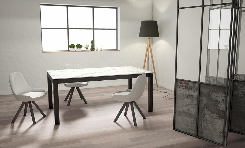 Tables de salons pieds métal et plateau en bois, verre ou céramique