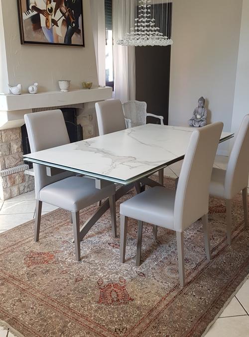 Table effet marbre Again